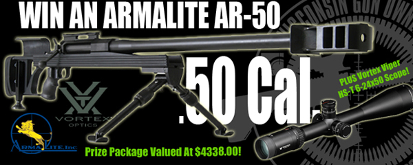 Click Here to Enter to Win a .50 Cal. ArmaLite AR-50 Rifle and Viper Vortex Scope!